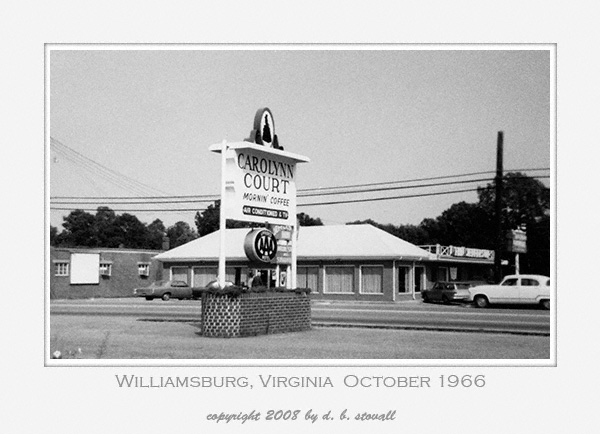 001 Williamsburg VA Oct 1966